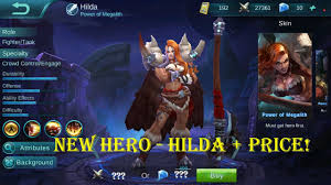 Mobile Legends - New Hero Hilda + Price! - YouTube