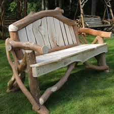 rustic garden furniture and fencing