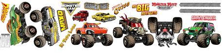 Monster Jam Small Wall Decal Walmart Com Walmart Com
