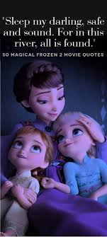 frozen quotes from your favorite characters sleep my darling