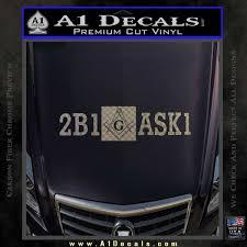 Freemason 2b1 Ask1 Decal Sticker A1 Decals