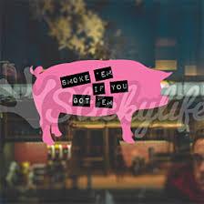 Pig Decal Custom Hog Shaped Vinyl Window Sticker