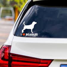 I Love Beagles Vinyl Car Sticker Dog Days