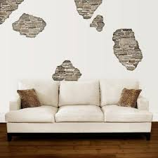 Rustic Faux Stone Breakaway Wall Decals Removable Reusable Etsy
