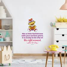 Be Silly Kika Muppets Life Quote Cartoon Quotes Decors Wall Sticker Art Design Decal For Girls Boys Kids Room Bedroom Nursery Kindergarten Home Decor Stickers Wall Art Vinyl Decoration 10x10 Inch