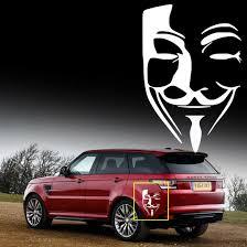 White Car V For Vendetta Anonymous Guy Fawkes Mask Decal Vinyl Decal Sticker Ebay