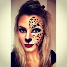 half face halloween makeup step by