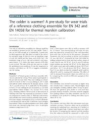 pdf the colder is warmer a pre study