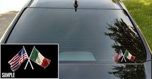American Flag And Italian Flag Vinyl Decal American Flag Etsy
