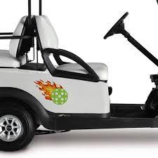 Golf Cart Pickleball Fireball Decal Pickleball Gifts Golf Etsy