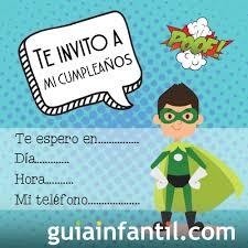 Invitacion De Cumpleanos Para Ninos Con Un Superheroe