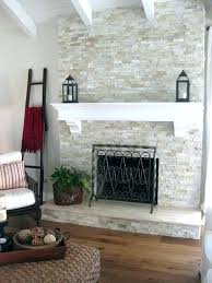 white rock fireplace ideas stone