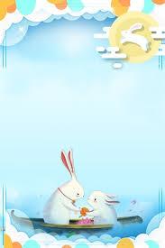 清新簡約兔子月餅海報背景兔子藍色月餅中秋節簡約清新卡通手繪海報背景in 2020 | Blue moon cake, Moon cake, Mid  autumn festival