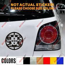 Portugal Portuguese Flag Seal Decal Sticker Car Vinyl Round Die Cut Simple Style Ebay