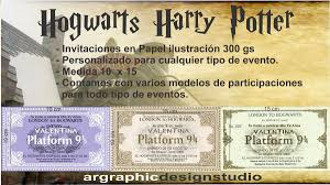 Tarjeta Invitacion Cumpleanos Quince Hogwarts Harry Potter 17 00 En Mercado Libre