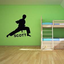 Karate Martial Arts Custom Any Boys Name Wall Decal Art Decor Personalized Wall Stickers For Kids Room Wall Decal Deals Wall Decal Decor From Flylife 8 55 Dhgate Com