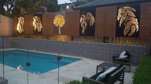 Landscape Privacy Screens Iron Bark Metal Design In 2020 Pool Decor Decorative Pool Fence Pool Fence