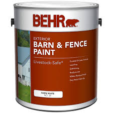Behr Barn Fence Exterior Paint Flat White 3 79 L The Home Depot Canada