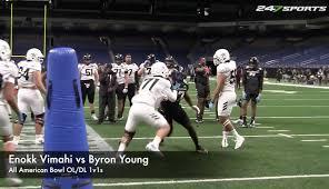 Byron Young All American Bowl OL/DL 1v1s - CBSSports.com