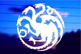 Targaryen Logo Game Of Thrones House Mother Of Dragons Decal Vinyl Sticker Cars Trucks Vans Walls