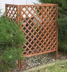 Amazon Com 3 Panel Wood Lattice Screen Garden Outdoor