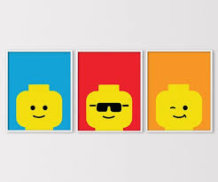 The Lego Poster Set Inspired By Minifigures Picturesor Lego Wall Art Lego Wall Lego Print