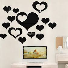 Love Wall Stickers On The Wall 3d Mirror Floral Art Removable Wall Sticker Acrylic Mural Decal Home Decor Room Decoration Droship Wx9 1877 Large Childrens Wall Stickers Large Decals For Walls From