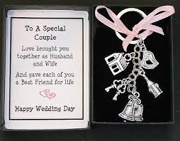 wedding day gift keyring keepsake for