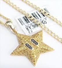 diamonds mario star emoji pendant charm