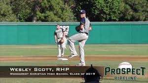 Wesley Scott, RHP, Woodcrest Christian High School Class of 2019 ...