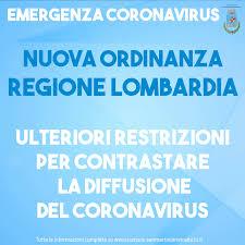 Nuova Ordinanza di Regione Lombardia | Comune di San Martino in Strada