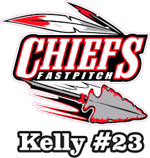 Chiefs Fastpitch Custom Car Sticker Car Decal Stickers Tagsports