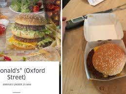 I ordered McDonald's from UberEats and ...