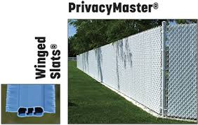 Chain Link Fences With Factory Inserted Slats Privacylink
