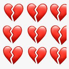 broken heart apple emoji hd png