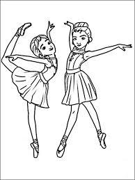 Kleurplaat Ballerina 3