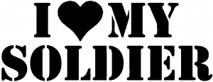 I Love My Soldier Car Or Truck Window Decal Sticker Rad Dezigns