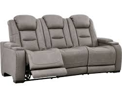 man den gray power reclining sofa