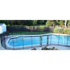 5 X 10 Feet Removable Child Barrier Pool Safety Mesh Fence In Ground Brown Ebay