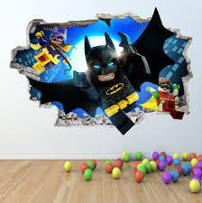 Lego Batman Wall Sticker 3d Look Boys Girls Bedroom Wall Art Decal Z418 Batman Room Batman Decor Batman Wall