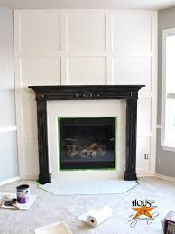 fireplace makeover white moulding