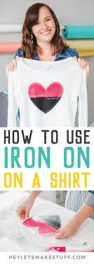 Using Cricut Iron On Vinyl On A Shirt Hey Let S Make Stuff