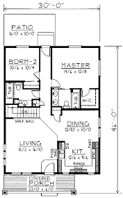 craftsman style house plan 2 beds 2