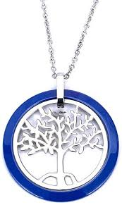 tree of life love heart blue ceramic