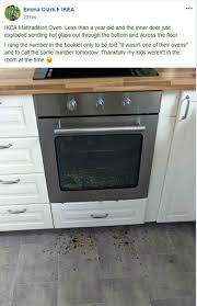 shocked mum s ikea oven explodes during