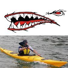 1pair Shark Teeth Mouth Vinyl Sticker Decals Dinghy Kayak Boat Fishing Motorcycle Car Bumper Graphics Wish