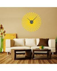 20 Off Style And Apply Retro Sun Wall Clock Wall Decal Saap1455 Color Dark Red