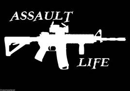 Assault Life Booter Ak47 M16 M4 Decal Sticker For Car Truck Suv Van Window Wall Laptop Salt Oblsfalkia