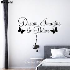 Mad World Dream Imagine And Believe Butterfly Wall Art Stickers Wall Decal Home Decoration Removable Room Decor Wall Stickers Wall Sticker Decorative Wall Stickerswall Art Stickers Aliexpress