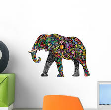 Elephant Wall Canada Bubbles Decal Vinyl Australia Art Indian Etsy Grey Vamosrayos